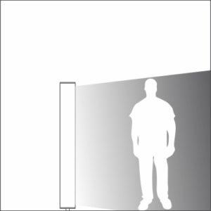 Sliver urban light element single light distribution