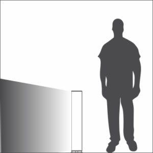 Sliver bollard single light distribution