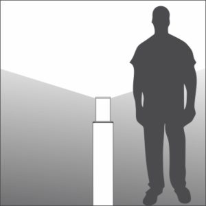 Shaft Bollard light distribution