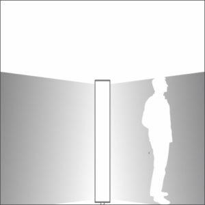 Sliver urban light element double light distribution