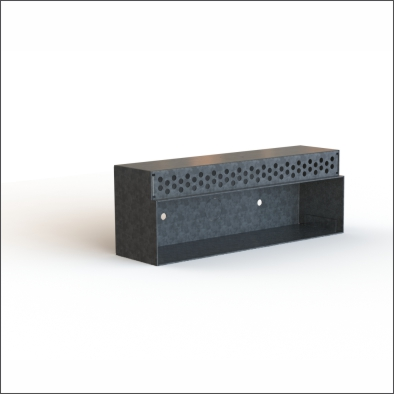 Miso wall light galvanised steel box