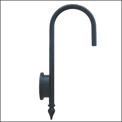 Gooseneck wall bracket
