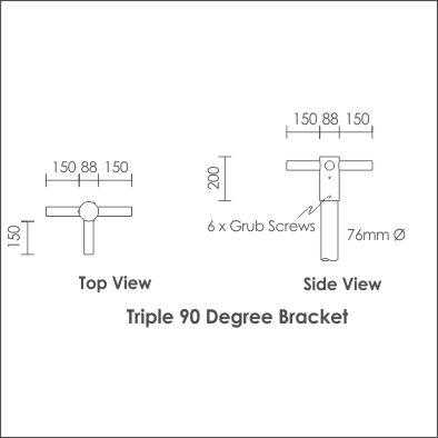 Bravo Bracket Triple 90 Degree