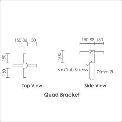 Bravo Bracket Quad
