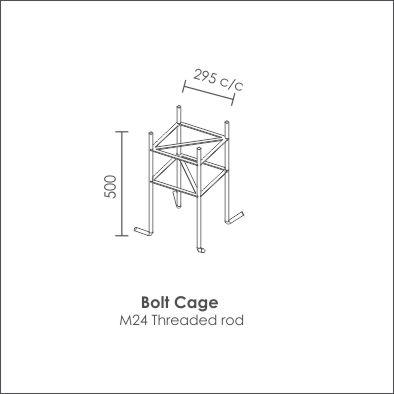 Galvanised Steel Pole150 x100 bolt cage