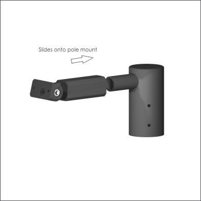Roto bracket pole mounted