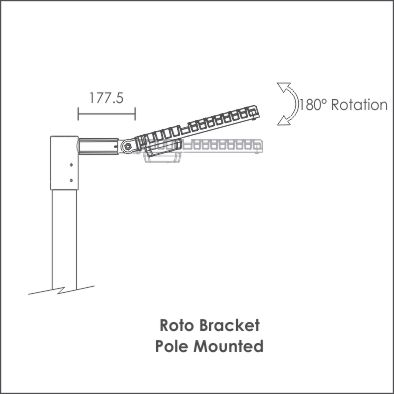 Roto pole mount side view