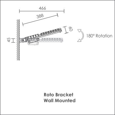 Roto wall mount side view
