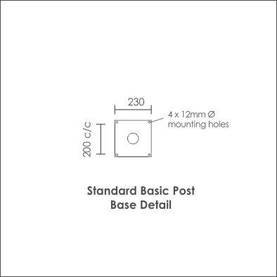 Standard Basic Post Base Detail
