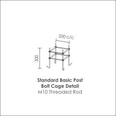 Standard Basic Post Bolt Cage