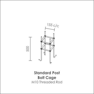 Standard Post Bolt Cage
