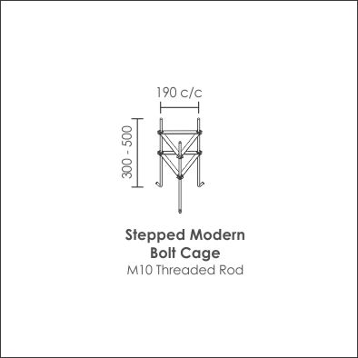Stepped Modern Bolt Cage