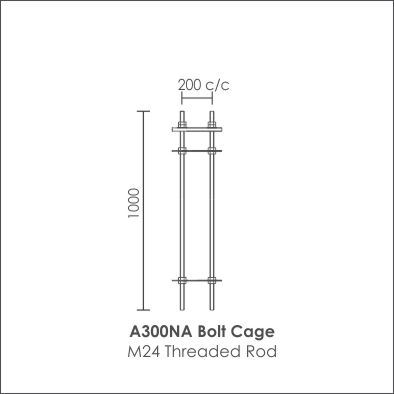Stepped Modern Pole bolt cage 7m Pole