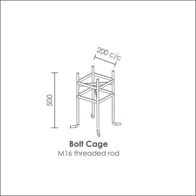 Aluminium pole150 x100 bolt cage