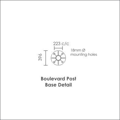 Boulevard Post Base Detail