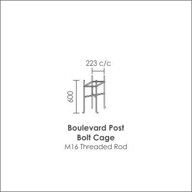 Boulevard Post Bolt Cage