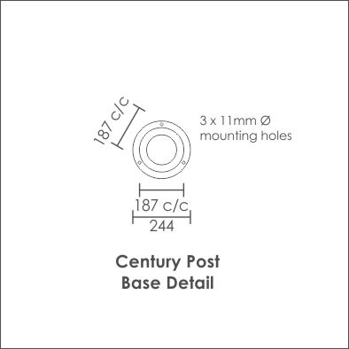 Century Post Base Detail