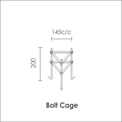 Column bolt cage detail