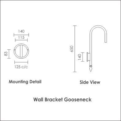 Gooseneck Wall Bracket