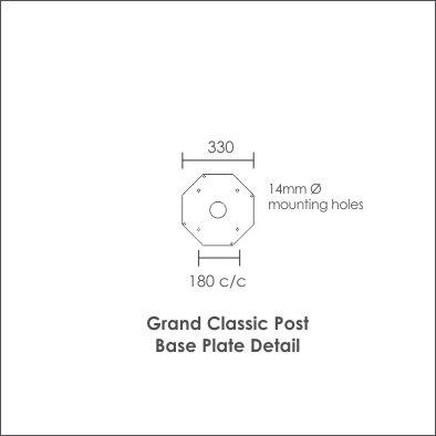 Grand Classic Post base detail