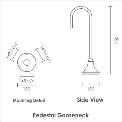 Pedestal Gooseneck