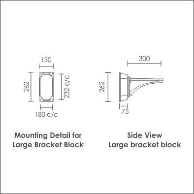 Large bracket block