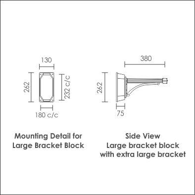 Large bracket block with extra large bracket